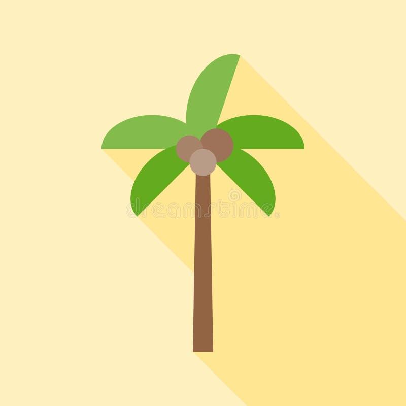 Icono del árbol de coco ilustración del vector