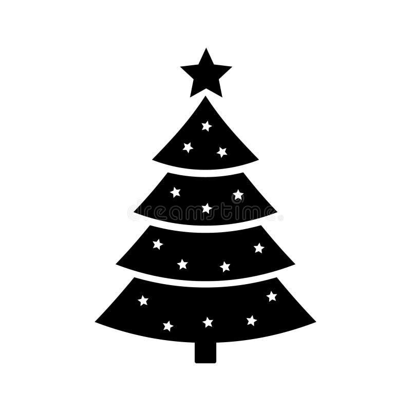 Icono del árbol de navidad stock de ilustración