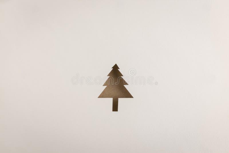 Icono del árbol de navidad de Brown imágenes de archivo libres de regalías