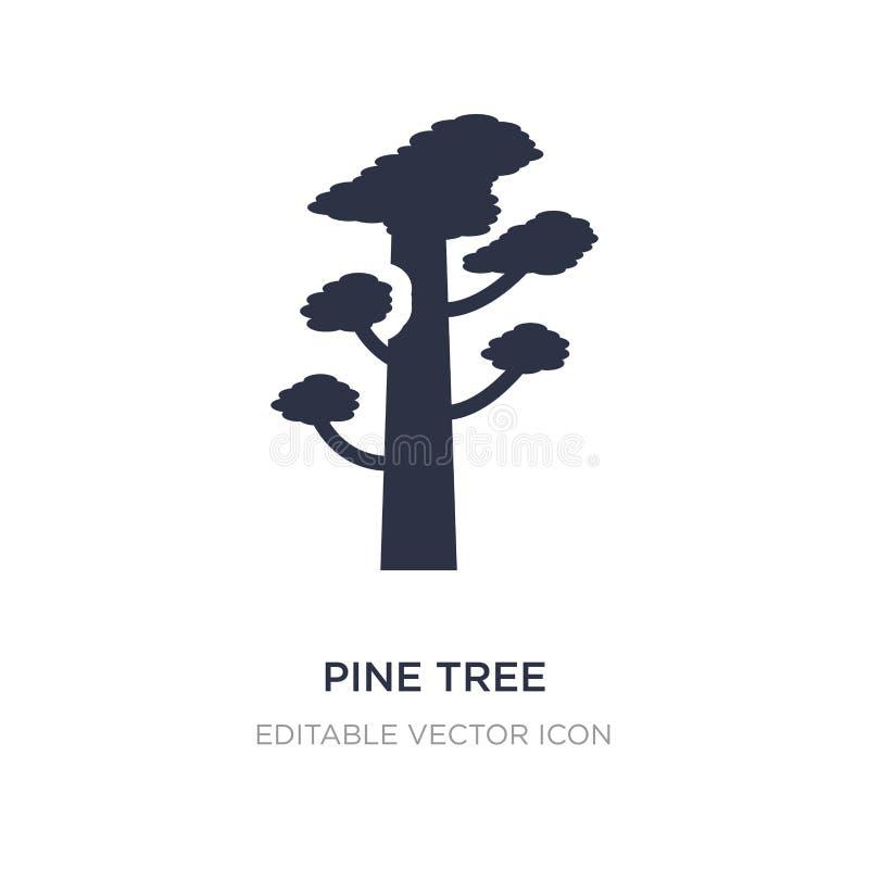 icono del árbol de pino en el fondo blanco Ejemplo simple del elemento del concepto de la naturaleza stock de ilustración