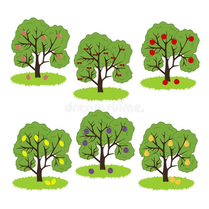 Icono del árbol frutal stock de ilustración