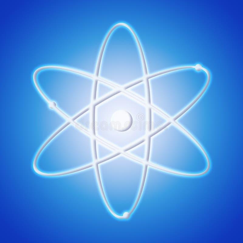 Icono del átomo - el símbolo de una ciencia imagen de archivo