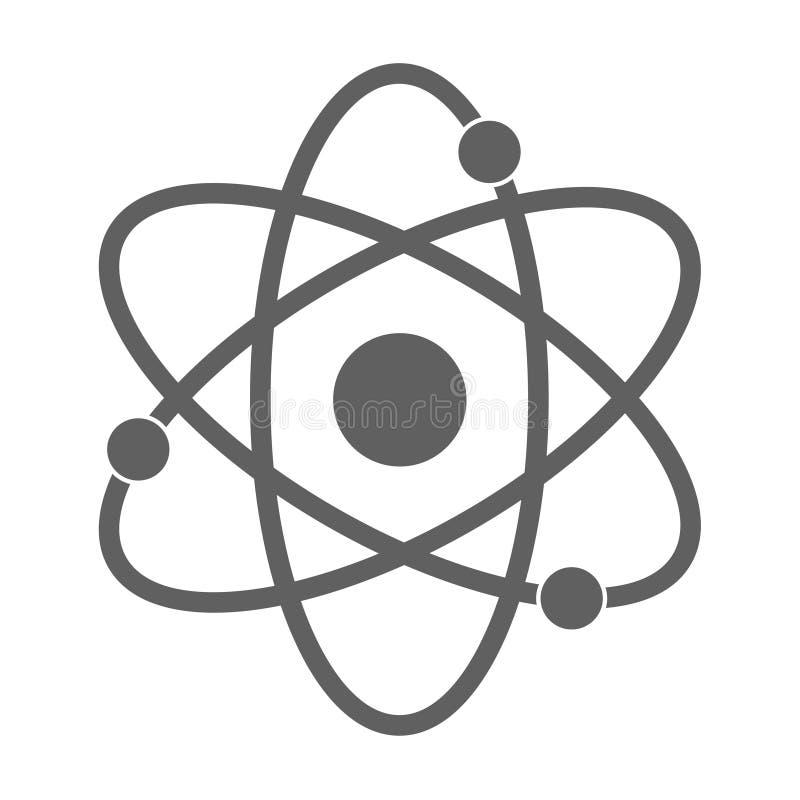 Icono del átomo en el fondo blanco ilustración del vector