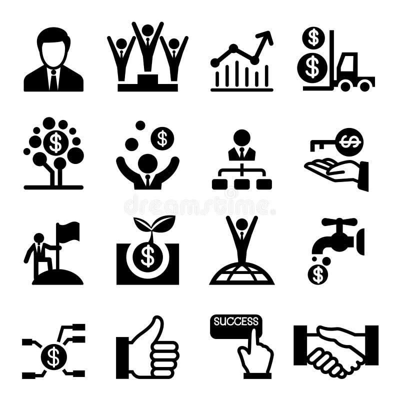Icono del éxito empresarial stock de ilustración