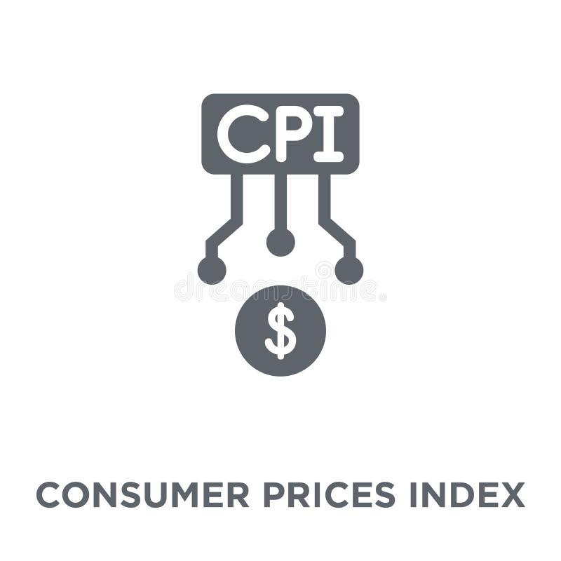 Icono del índice de precios de consumo (CPI) del índice de precios de consumo (CPI stock de ilustración