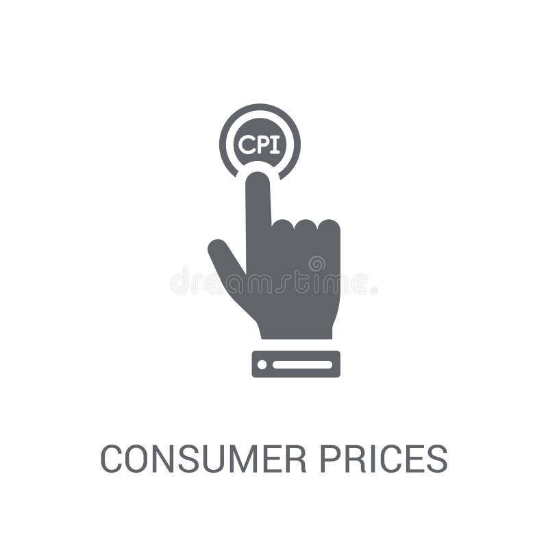 Icono del índice de precios de consumo (CPI)  ilustración del vector