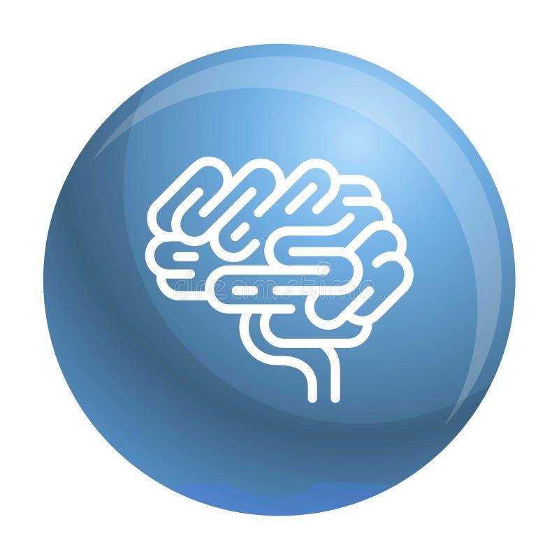 Icono del órgano del cerebro, estilo del esquema ilustración del vector