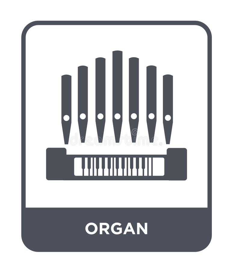 icono del órgano en estilo de moda del diseño icono del órgano aislado en el fondo blanco símbolo plano simple y moderno del icon stock de ilustración