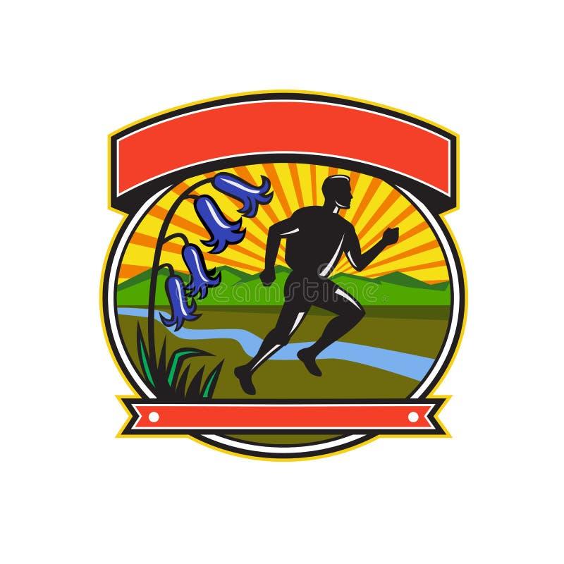 Icono del óvalo de las campanillas del corredor del rastro ilustración del vector
