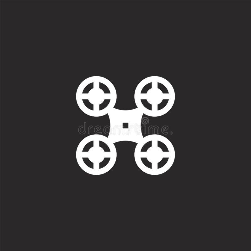 Icono del abej?n Icono llenado del abejón para el diseño y el móvil, desarrollo de la página web del app icono del abejón de la c libre illustration