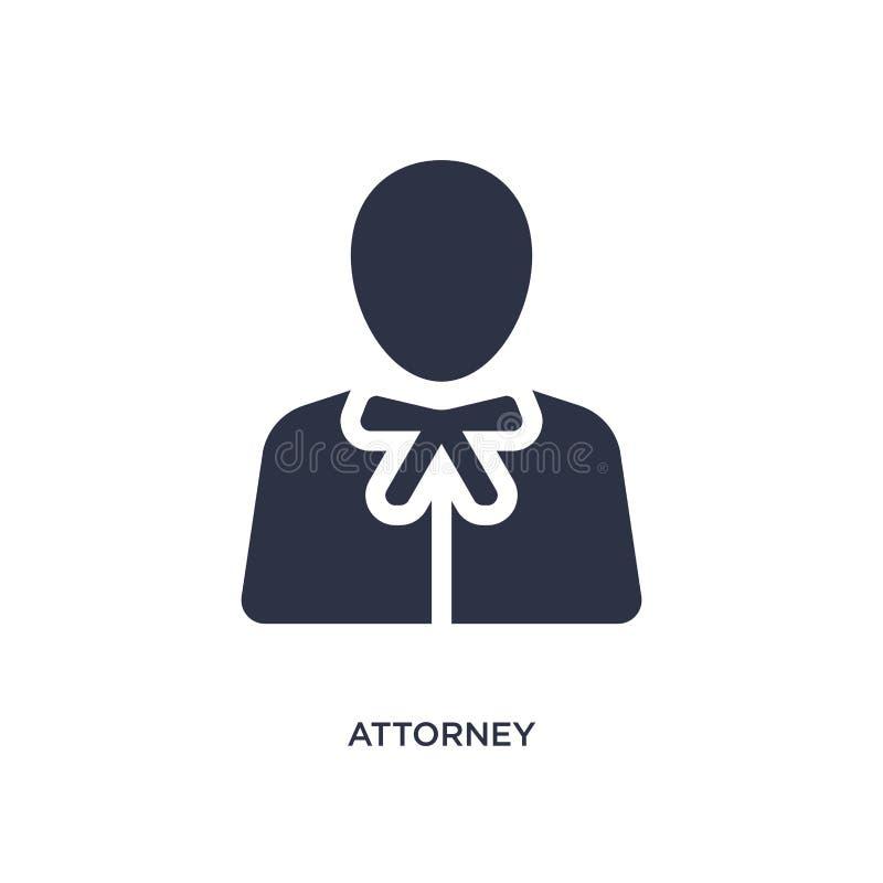 icono del abogado en el fondo blanco Ejemplo simple del elemento del concepto de la ley y de la justicia stock de ilustración