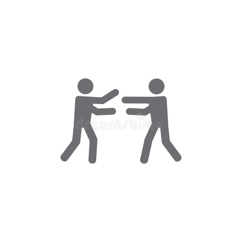 icono del abrazo Ejemplo simple del elemento plantilla del diseño del símbolo del abrazo Puede ser utilizado para el web y el móv ilustración del vector