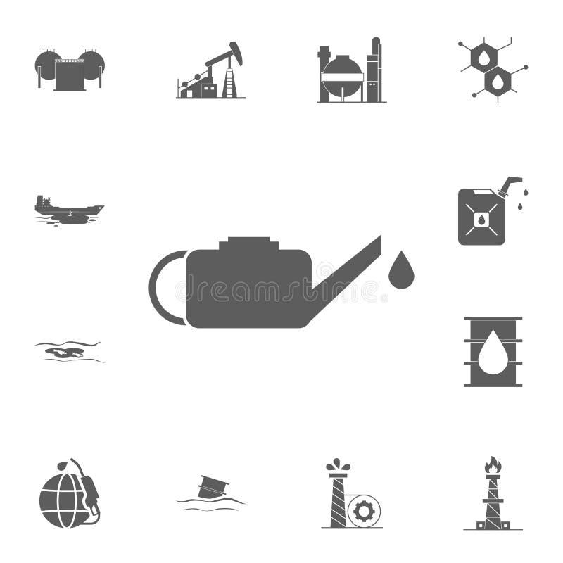 Icono del aceite de motor Sistema detallado de iconos del aceite Muestra superior del diseño gráfico de la calidad Uno de los ico libre illustration