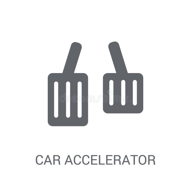 icono del acelerador del coche  stock de ilustración