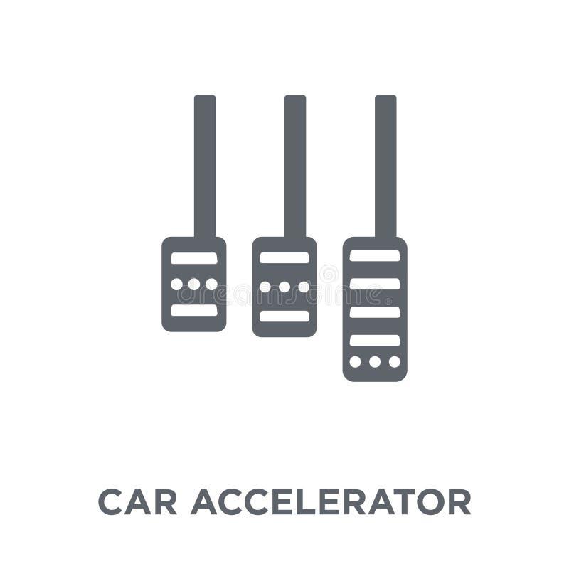 icono del acelerador del coche de la colección de las piezas del coche libre illustration