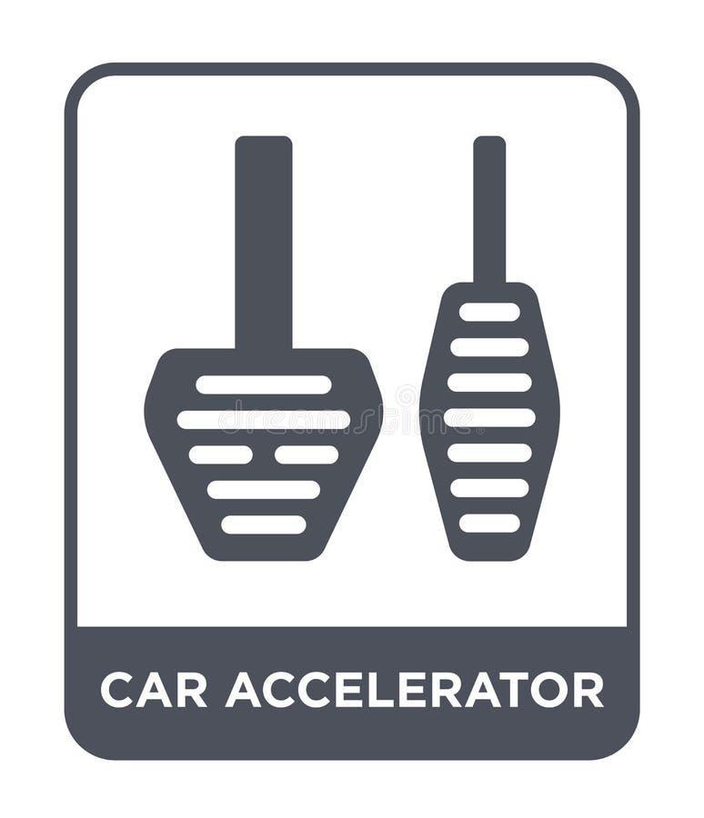 icono del acelerador del coche en estilo de moda del diseño icono del acelerador del coche aislado en el fondo blanco icono del v ilustración del vector