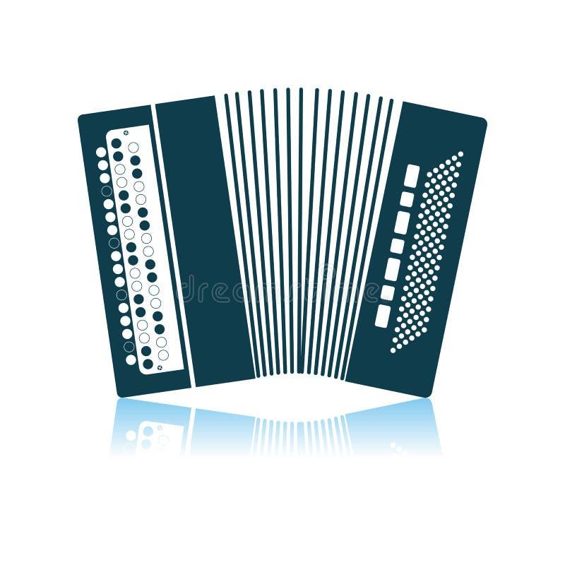 Icono del acorde?n stock de ilustración