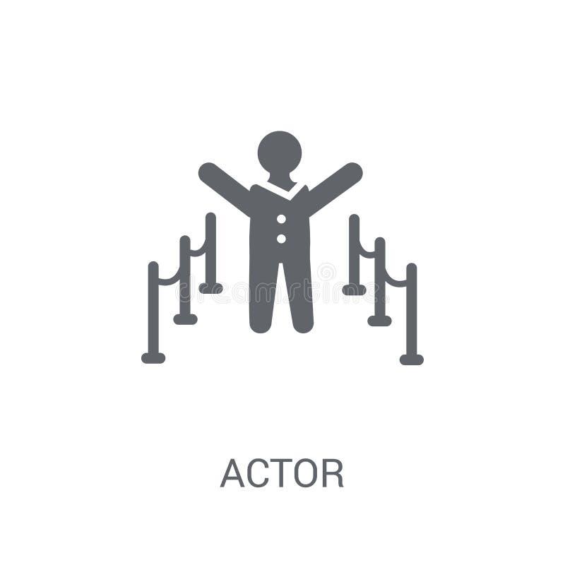 Icono del actor  stock de ilustración