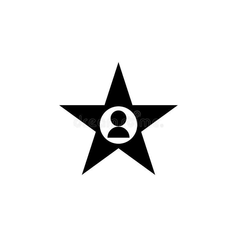 icono del actor de la estrella Elemento del icono del cine Icono superior del diseño gráfico de la calidad Muestras e icono para  libre illustration