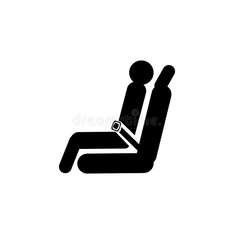 Icono del aeroplano del asiento de pasajero stock de ilustración