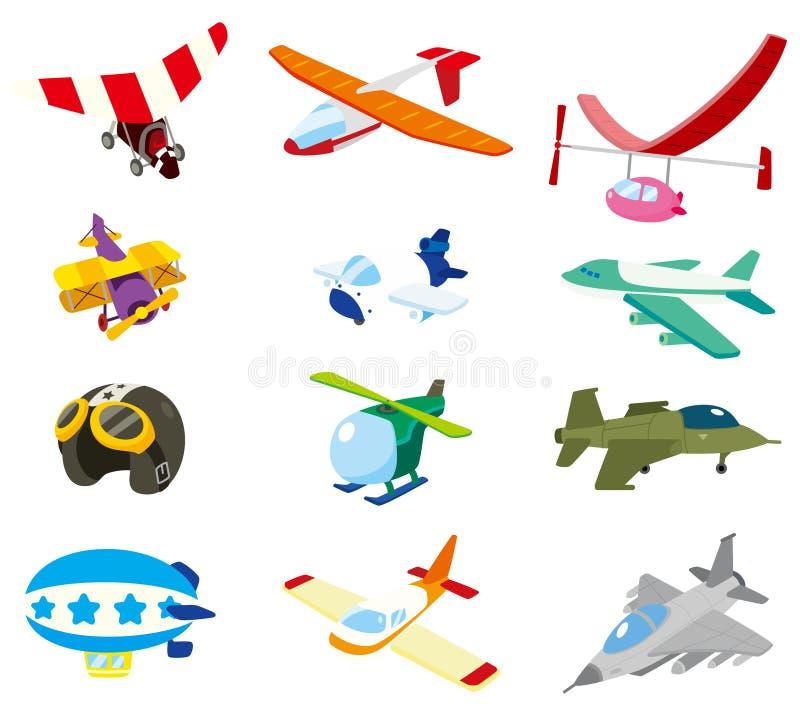 Icono del aeroplano de la historieta stock de ilustración