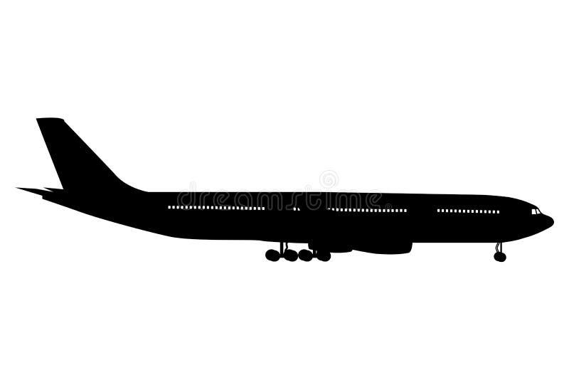 Icono del aeroplano, ejemplo del vector ilustración del vector