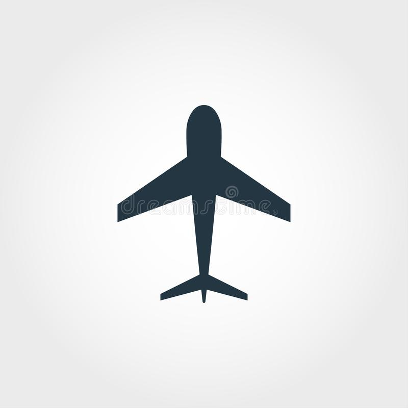 Icono del aeroplano Ejemplo simple del elemento Diseño perfecto del icono del pixel del aeroplano de la colección del transporte  libre illustration