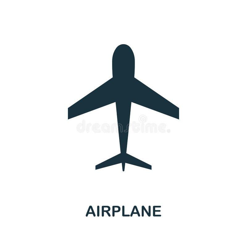 Icono del aeroplano en vector Diseño plano del icono del estilo Ejemplo del vector del icono del aeroplano pictograma aislado en  libre illustration