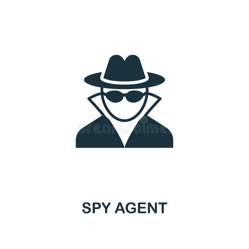icono del agente del espía Diseño superior del estilo de la colección del icono de la seguridad UI y UX Icono perfecto para el di stock de ilustración