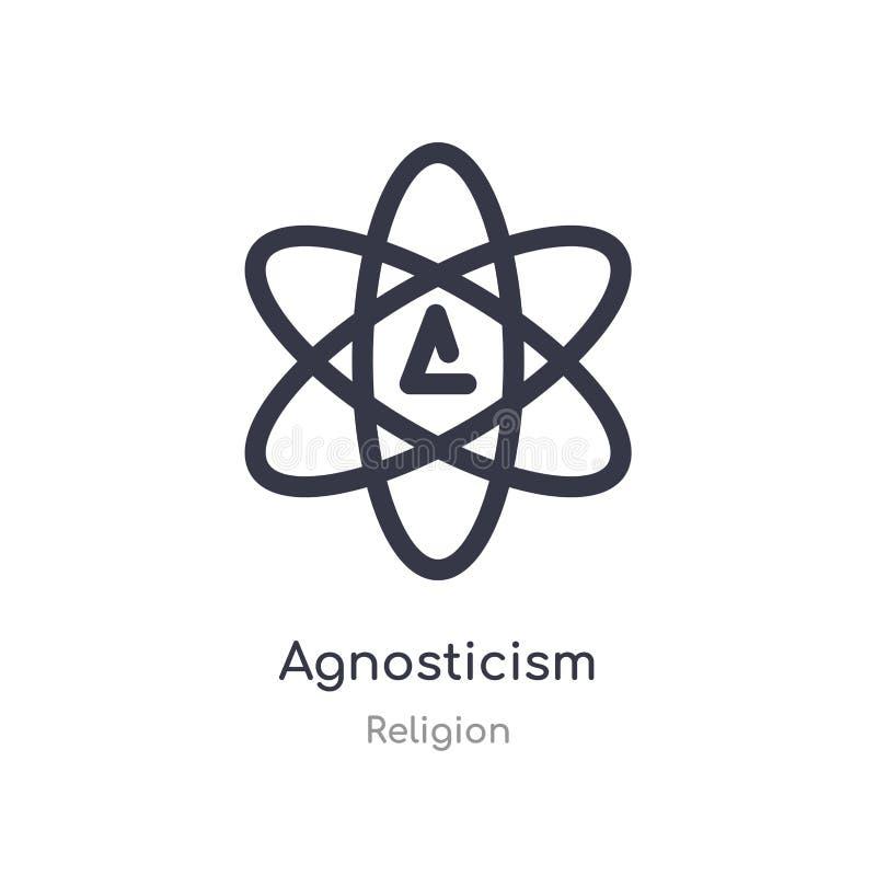 icono del agnosticismo ejemplo aislado del vector del icono del agnosticismo de la colección de la religión editable cante el s?m stock de ilustración