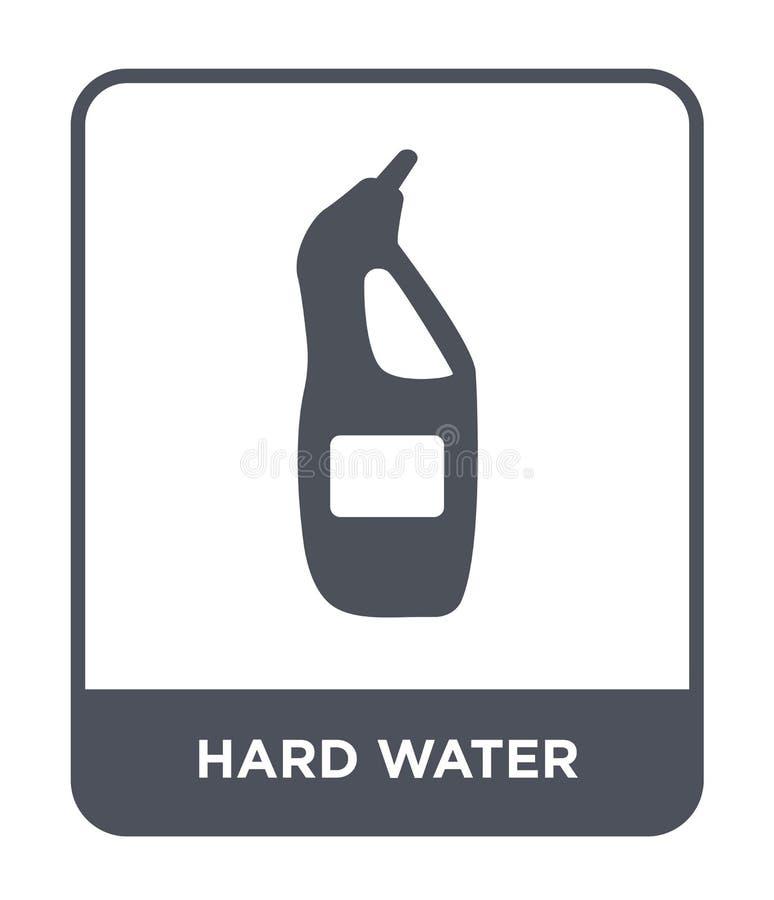 icono del agua dura en estilo de moda del diseño icono del agua dura aislado en el fondo blanco icono del vector del agua dura si ilustración del vector