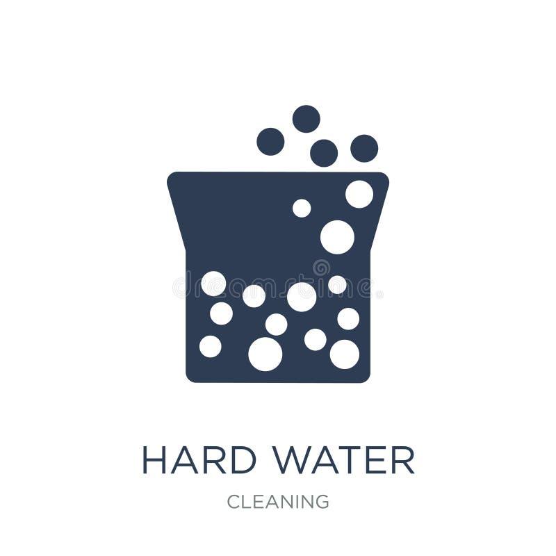 Icono del agua dura Icono plano de moda del agua dura del vector en el CCB blanco stock de ilustración