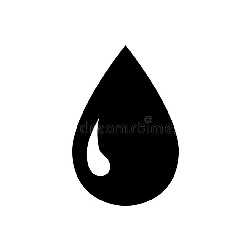 Icono del agua Gota de lluvia, señalización acuática S?mbolo l?quido Vector stock de ilustración