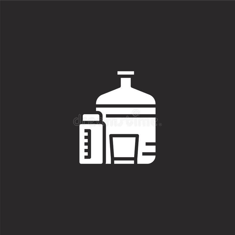 Icono del agua Icono llenado del agua para el diseño y el móvil, desarrollo de la página web del app icono del agua de la colecci libre illustration