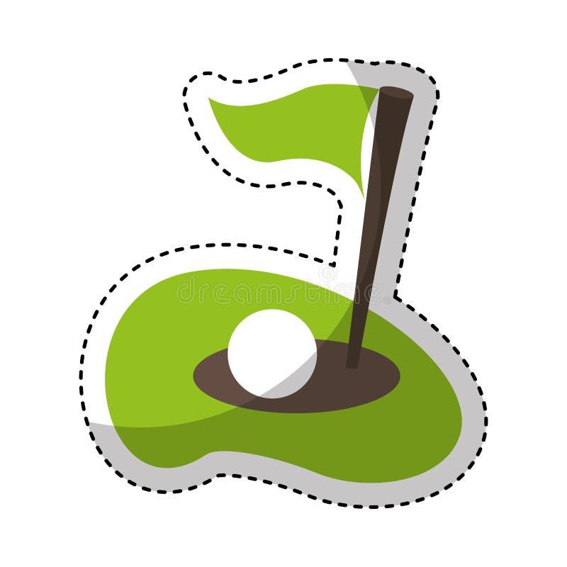 Icono del agujero del golf de la bandera libre illustration