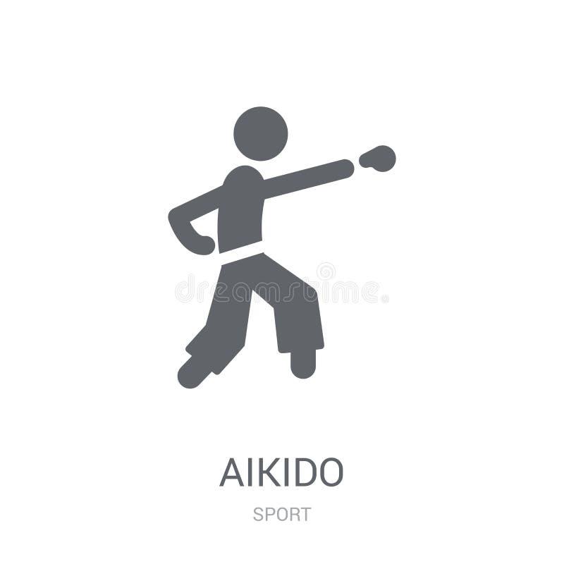 icono del aikido  ilustración del vector