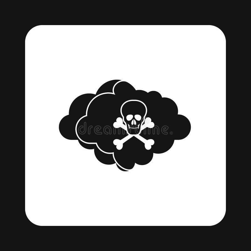 Icono del aire mortal, estilo simple stock de ilustración