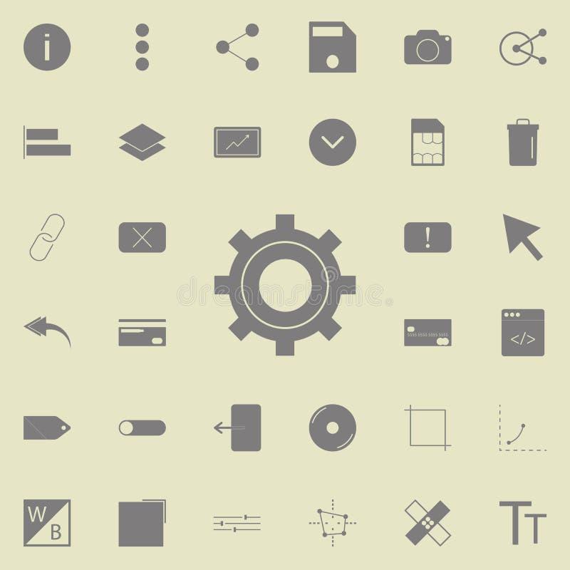 Icono del ajuste Sistema detallado de iconos minimalistic Muestra superior del diseño gráfico de la calidad Uno de los iconos de  libre illustration