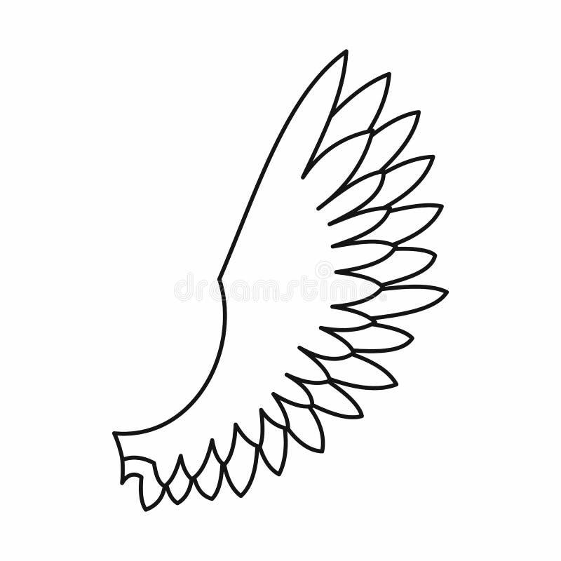 Icono del ala, estilo del esquema libre illustration