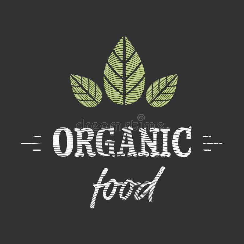 Icono del alimento biológico ilustración del vector