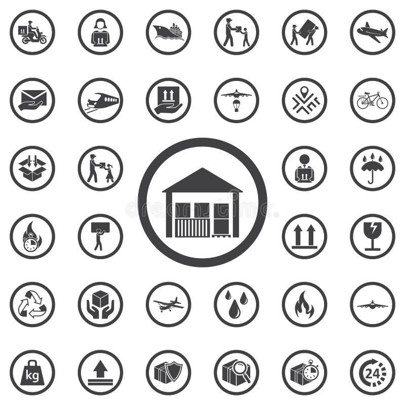 icono del almacén aislado en fondo libre illustration