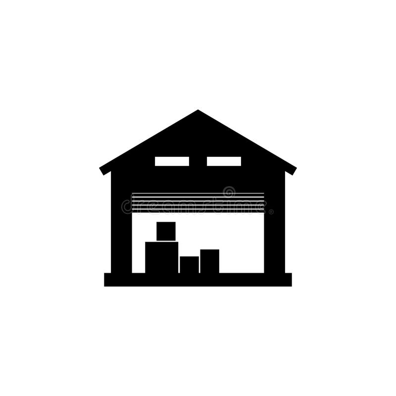 icono del almacén de almacenamiento Elemento del icono de la logística Icono superior del diseño gráfico de la calidad Muestras e libre illustration