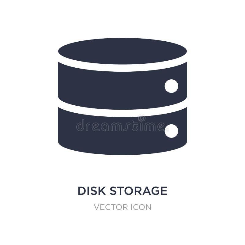 icono del almacenamiento en discos en el fondo blanco Ejemplo simple del elemento del concepto de UI stock de ilustración