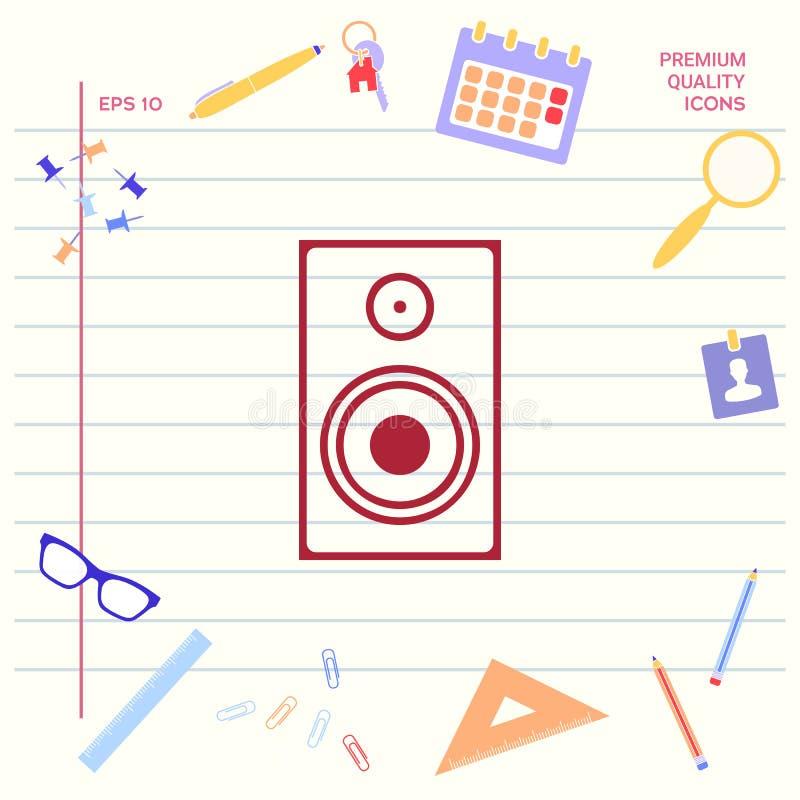 Icono del altavoz de audio stock de ilustración
