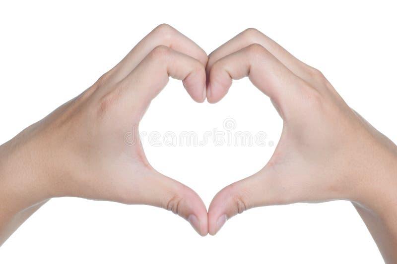 Icono del amor de la postura de la muestra de la mano aislado fotos de archivo