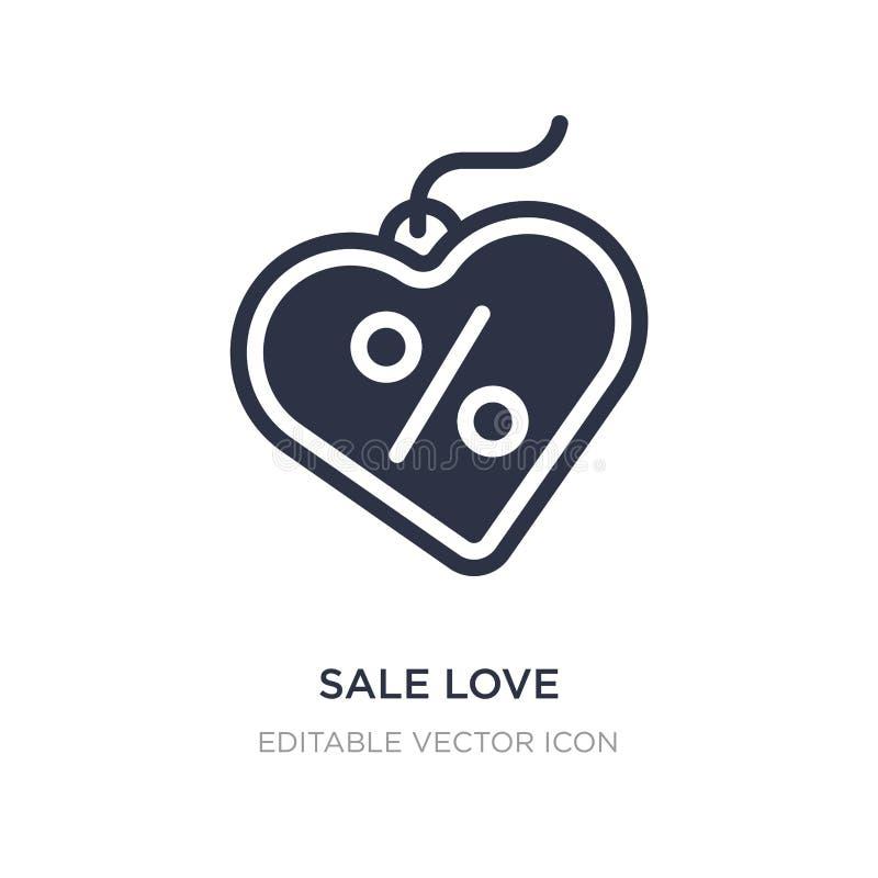 icono del amor de la venta en el fondo blanco Ejemplo simple del elemento del concepto del comercio ilustración del vector