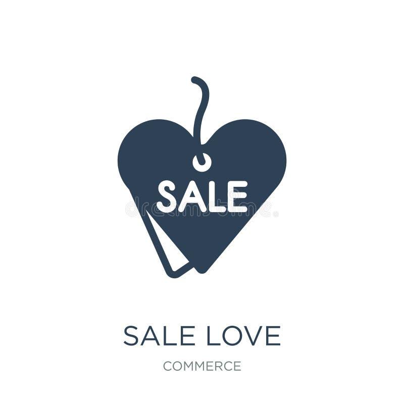 icono del amor de la venta en estilo de moda del diseño Icono del amor de la venta aislado en el fondo blanco plano simple y mode ilustración del vector