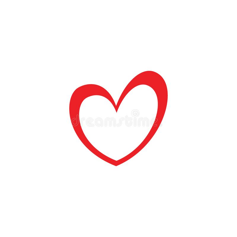 Icono del amor o concepto lindo y artístico del logotipo del símbolo ilustración del vector