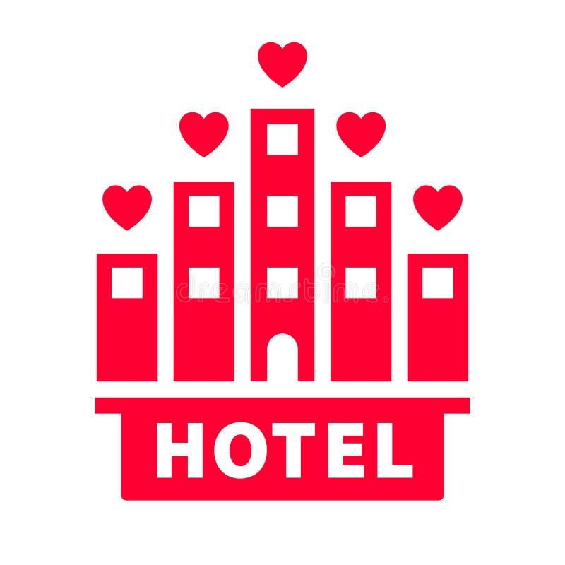 Icono del amor o muestra del día de tarjeta del día de San Valentín diseñada para la celebración ilustración del vector