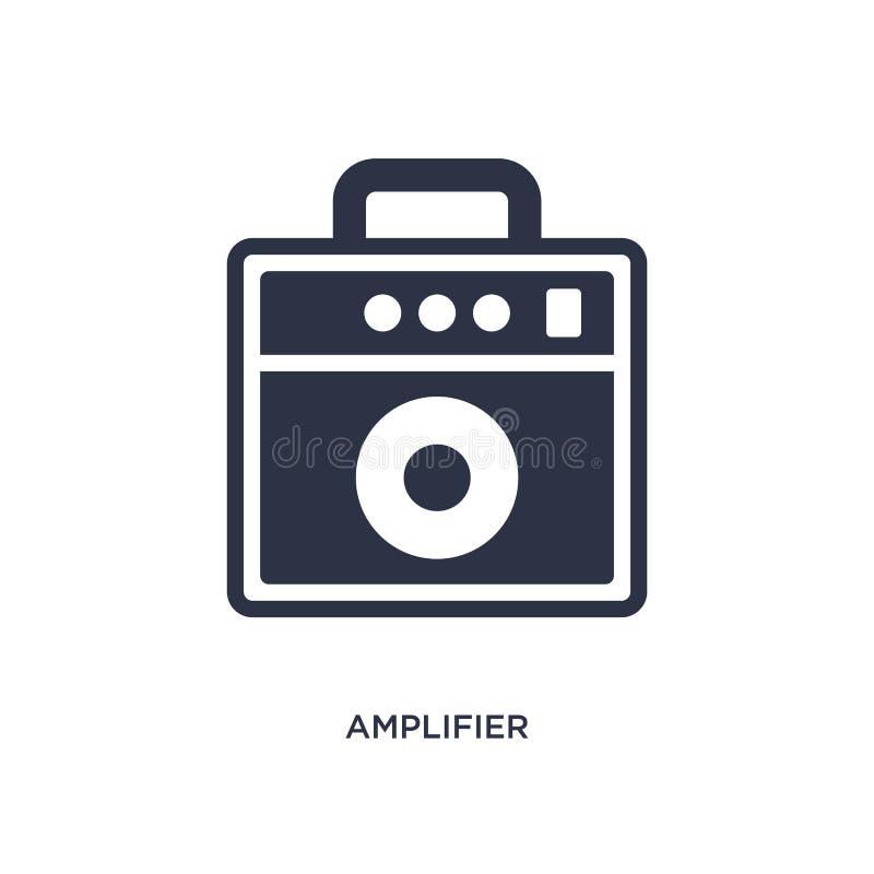 icono del amplificador en el fondo blanco Ejemplo simple del elemento del concepto de la música stock de ilustración